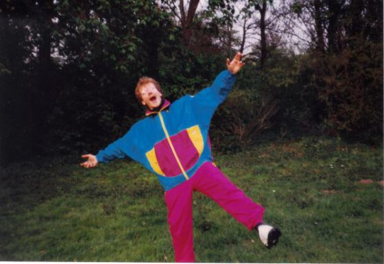 Perfektes Outfit für's erste Discgolf-Turnier 1989 in HH